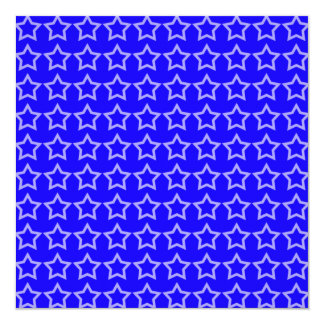 Pattern: Blue Background with White Stars Invitations