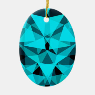 pattern blue ceramic oval decoration