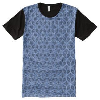 Pattern blue T-Shirt All-Over Print T-Shirt