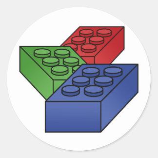 Pattern - Bright Building Blocks Stickers