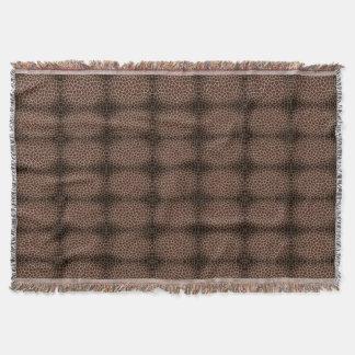 pattern brown giraffe style throw blanket