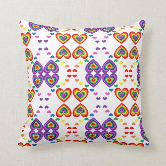 Pattern colourful hearts Throw Cushion 41 x 41
