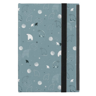 pattern displaying a cute polar cover for iPad mini