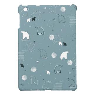 pattern displaying a cute polar iPad mini cover