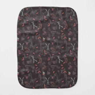 pattern displaying baby animals 1 burp cloth