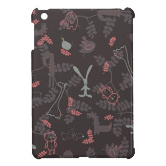 pattern displaying baby animals 1 iPad mini cases