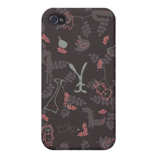 pattern displaying baby animals 1 iPhone 4/4S case