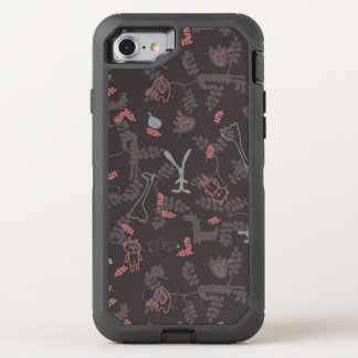 pattern displaying baby animals 1 OtterBox defender iPhone 8/7 case