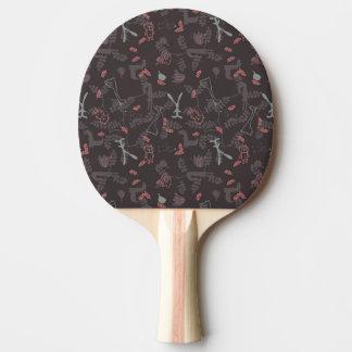 pattern displaying baby animals 1 ping pong paddle