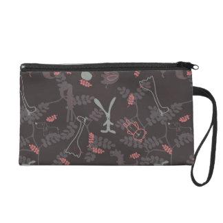 pattern displaying baby animals 1 wristlet purses