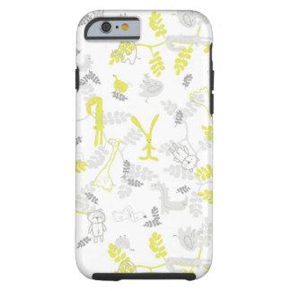 pattern displaying baby animals 2 tough iPhone 6 case