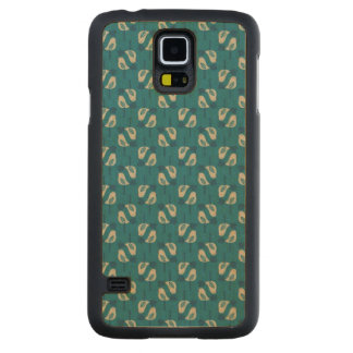 pattern displaying birds carved maple galaxy s5 case