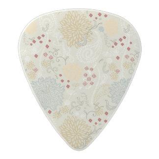 pattern displaying curly garden acetal guitar pick