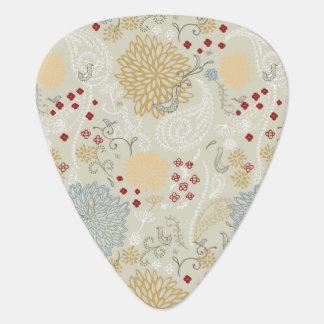 pattern displaying curly garden guitar pick