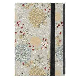pattern displaying curly garden iPad mini case
