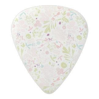 pattern displaying floral acetal guitar pick