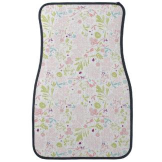 pattern displaying floral car mat