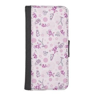 pattern displaying vintage baby animals iPhone SE/5/5s wallet case