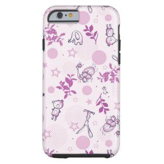 pattern displaying vintage baby animals tough iPhone 6 case