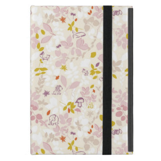 pattern displaying whimsical animals case for iPad mini