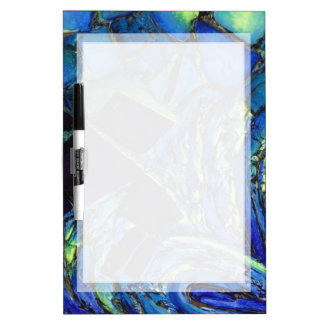 PATTERN DRYERASE BOARD BLUE ABSTRACT ART BOARD