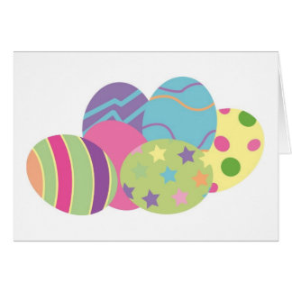 Pattern Easter Eggs Greeting Card