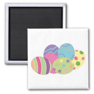 Pattern Easter Eggs Square Magnet