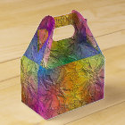 Pattern Embossed Rainbow Favour Box