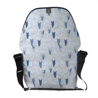 pattern featuring a grizzly bear courier bag