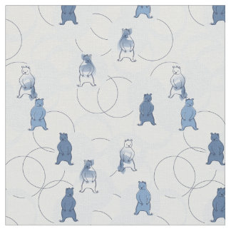 pattern featuring a grizzly bear fabric