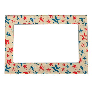 Pattern for 4th of July Frame Magnets
