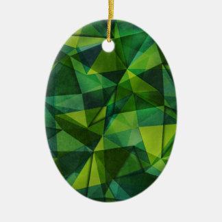 pattern green ceramic oval decoration