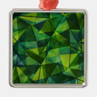 pattern green Silver-Colored square decoration