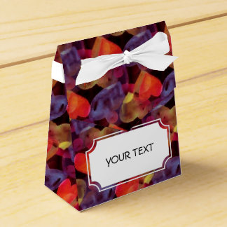 Pattern - Hearts f. love black colored + your text Wedding Favor Box