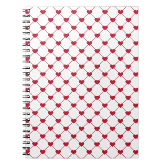 Pattern/Hearts Spiral Note Book