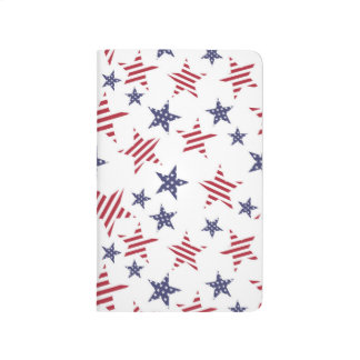 Pattern in colors of the USA flag Journal