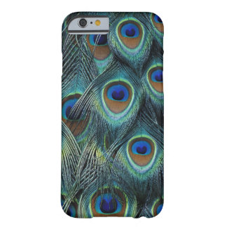 Pattern in male peacock feathers barely there iPhone 6 case