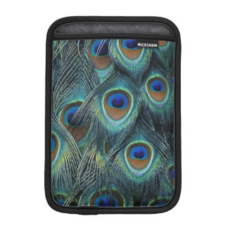 Pattern in male peacock feathers iPad mini sleeve