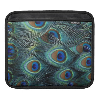 Pattern in male peacock feathers iPad sleeve