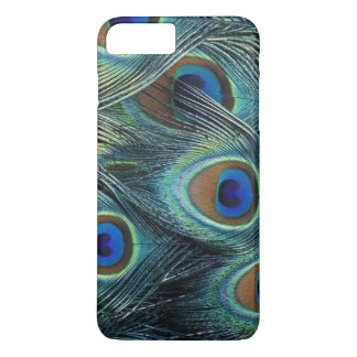 Pattern in male peacock feathers iPhone 7 plus case