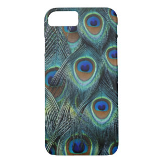 Pattern in male peacock feathers iPhone 8/7 case