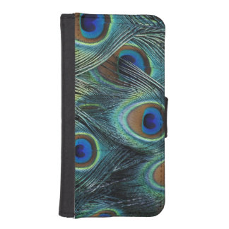 Pattern in male peacock feathers iPhone SE/5/5s wallet case