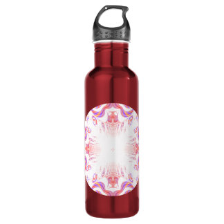 Pattern in Red, Orange and Purple. 710 Ml Water Bottle