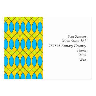 Pattern Kuki yellow Business Card Template