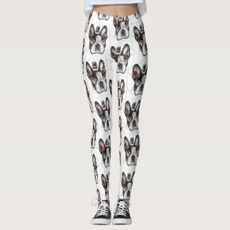 Pattern Leggings & Tights: King Boston Terrier