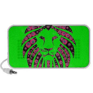 Pattern Lion Head Travelling Speaker