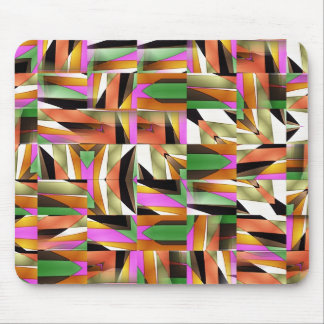 Pattern made of Abstract color tiles Mouse Mat