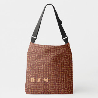Pattern monogrammed crossbody bag