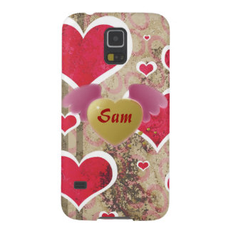 Pattern Monogrammed Office Party Shower Birthday Cases For Galaxy S5
