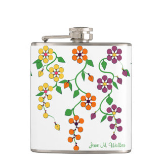 Pattern NO.2: Hanging Flowers Customized Flask